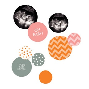 Dots And Chevrons Table Decor -- Baby Shower Decorations