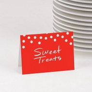 Dots & Chevrons Table Cards -- Kids Party Decorations