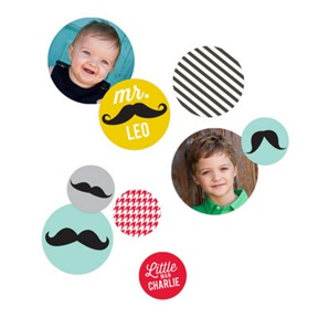 Mr. Mustache Table Decor -- Kids Party Decorations