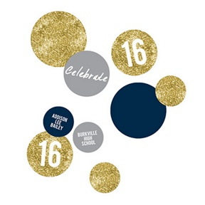 Glam Grad Gold Table Decor -- Graduation Party Decorations
