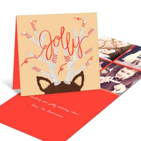 Jolly Antlers Collage -- Holiday Photo Cards