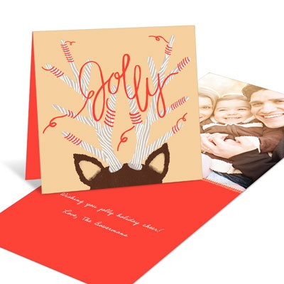 Jolly Antlers Holiday Photo Cards