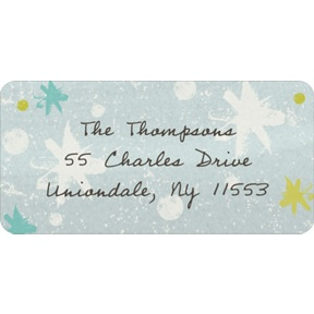 Winter Snowflakes -- Christmas Address Labels