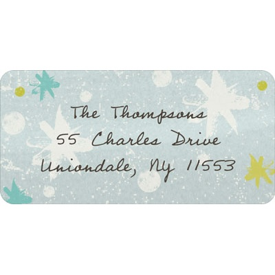 Winter Snowflakes Christmas Address Labels