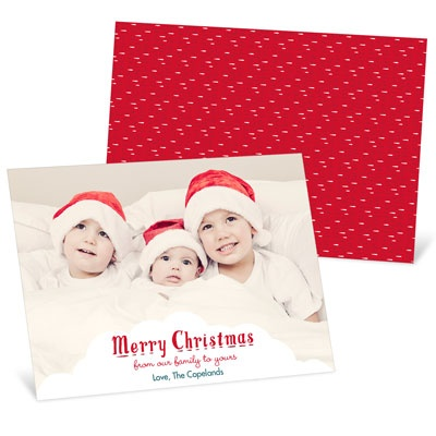 White Christmas Holiday Photo Cards