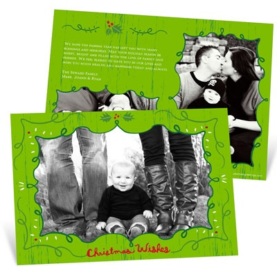 Whimsical Frames Photo Christmas Cards