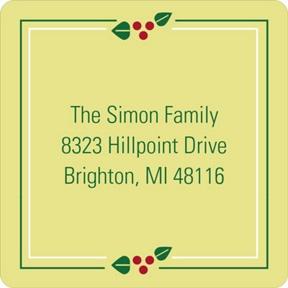 Square Frame -- Christmas Address Labels