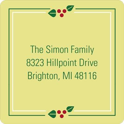 Square Frame Christmas Address Labels
