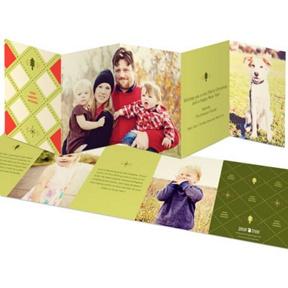 Five-Panel Argyle -- Christmas Cards