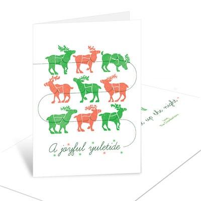 Reindeer Lineup Christmas Cards