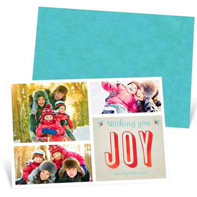 Joyful Collage Photo Christmas Cards