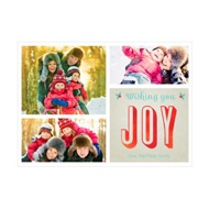 Photo Paper Joyful Collage Christmas Cards