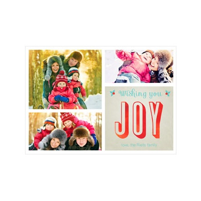 Photo Paper Joyful Collage Photo Christmas Cards