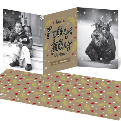 Holly Jolly Photo Christmas Cards