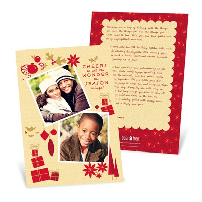Letter Backer Holiday Photo Cards