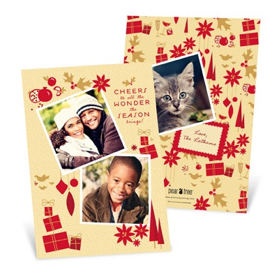 Tri-Photo Cheer Holiday Photo Cards