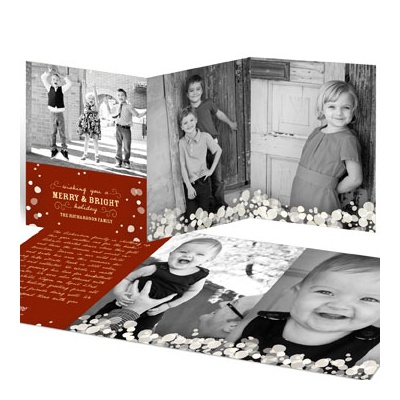 Soft White Lights Holiday Photo Cards