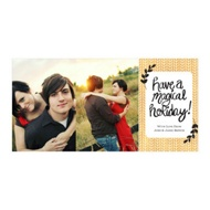Photo Paper Magical Holiday Christmas Cards