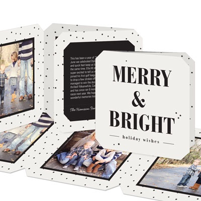 Chain Of Photos Holiday Photo Cards