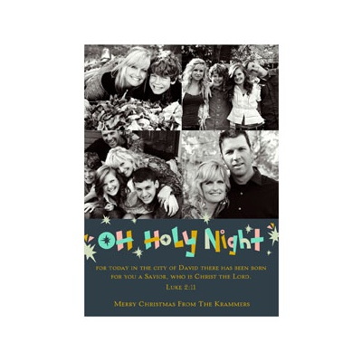 Photo Paper Holy Night Religious Christmas Cards