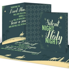 Christmas Story Unfolds -- Religious Christmas Cards