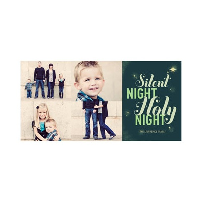 Photo Paper Silent Night Religious Christmas Cards