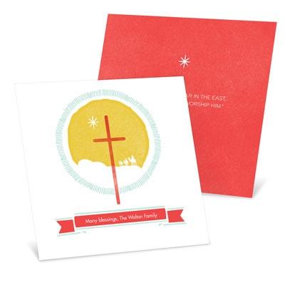 Follow The Star Religious Christmas Cards