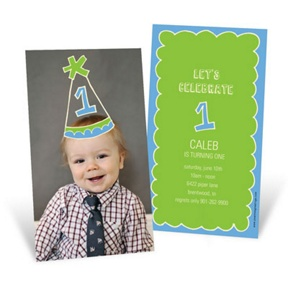 First Party Hat -- 1st Birthday Invitations