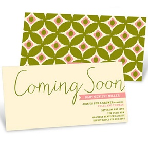 Coming Soon -- Baby Shower Invitations