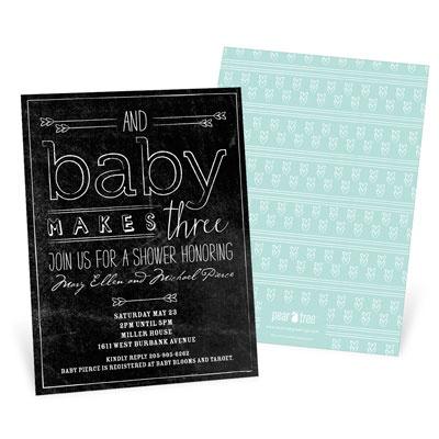 Chalk Art Baby Shower Invitations