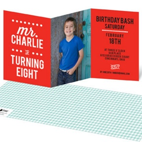 Little Man Bday -- Kids Birthday Invitations