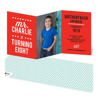 Little Man Bday Kids Birthday Invitations