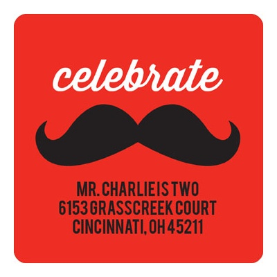 Mr. Mustache Address Labels