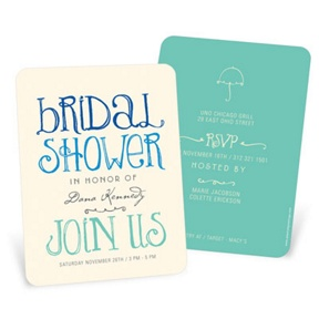 Showers Ahead -- Bridal Shower Invitations