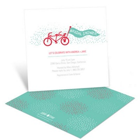 Tandem Ride -- Bridal Shower Invitations