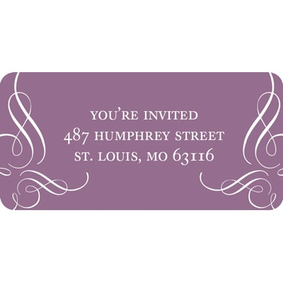 Get Fancy Wedding Address Labels