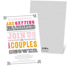 Vintage Couples Affair -- Bridal Shower Invitations