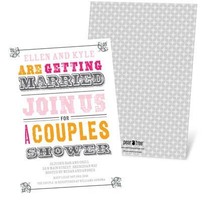 Vintage Couples Affair Bridal Shower Invitations