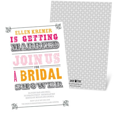 Vintage Affair Bridal Shower Invitations