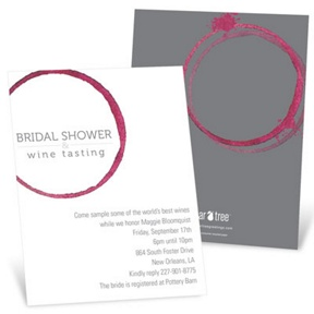 Share the Wine -- Bridal Shower Invitations