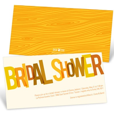 Golden Hues Bridal Shower Invitations