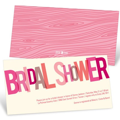 Go Pink Bridal Shower Invitations