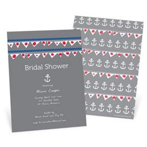 Setting Sail -- Bridal Shower Invitations
