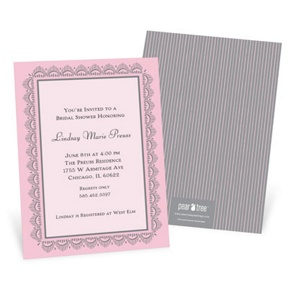 Lace Trim -- Bridal Shower Invitations