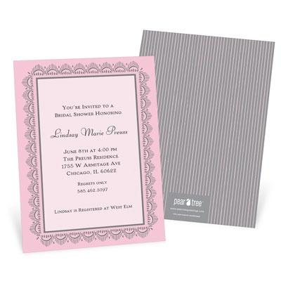 Lace Trim Bridal Shower Invitations
