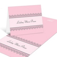 Lace Trim Bridal Shower Thank You Cards