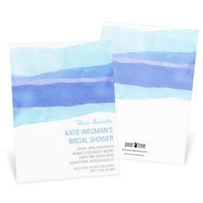 Watercolor Blue -- Bridal Shower Invitations