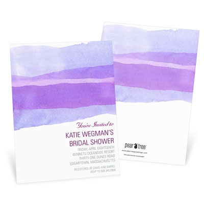 Watercolor Purple Bridal Shower Invitations