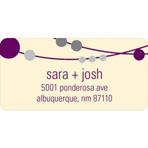 Simple Strands -- Wedding Address Labels