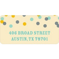 Blue And Gold Bubbles Wedding Address Labels